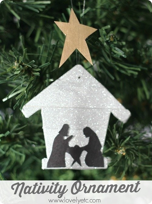 nativity silhouette ornament 4