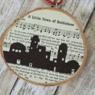 O Little Town of Bethlehem DIY Christmas Ornament