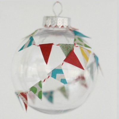 Festive Paper Pennant Ornament