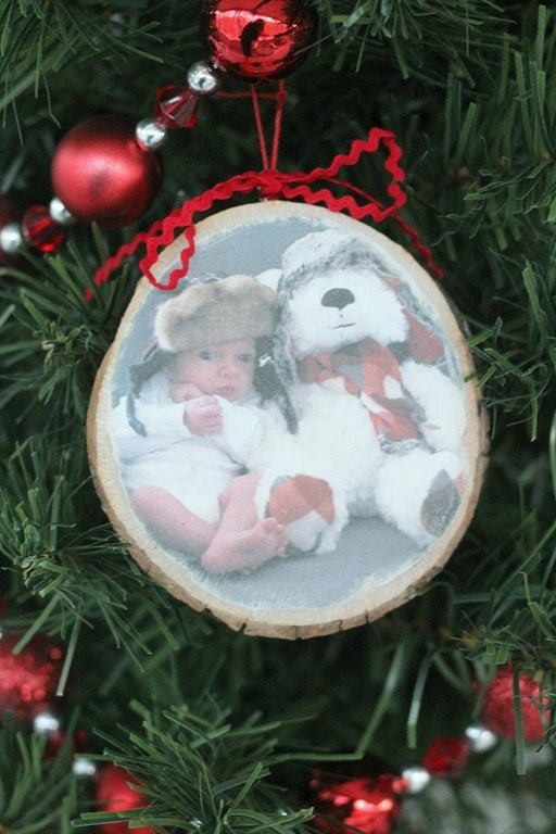 Photo Transfer Wood Slice Ornament Lovely Etc