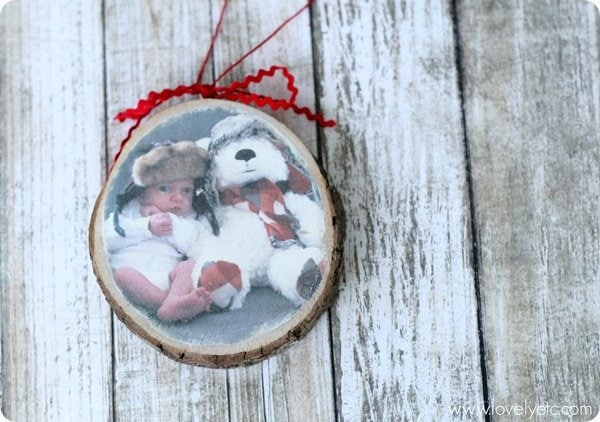 photo wood transfer ornament