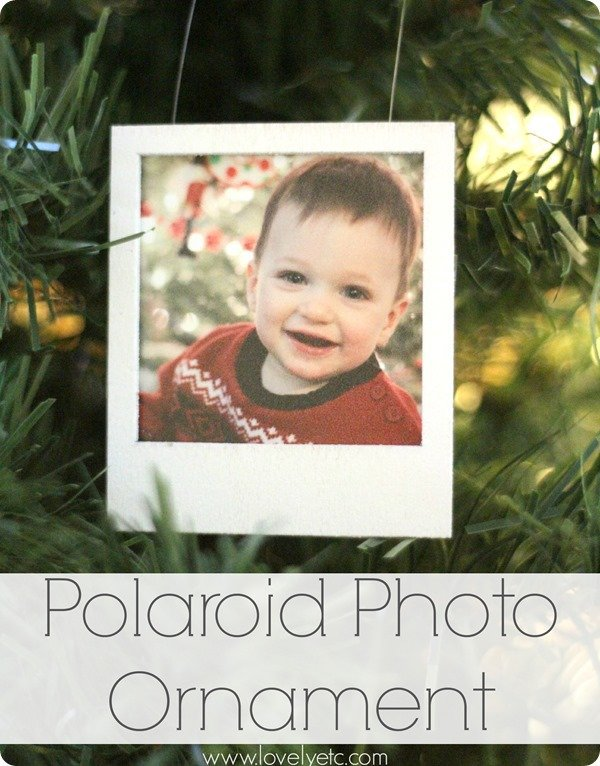 polaroid photo ornament by lovely etc