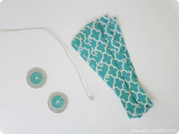 scrapbook paper ornament supplies