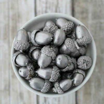 Silver Leaf Acorns