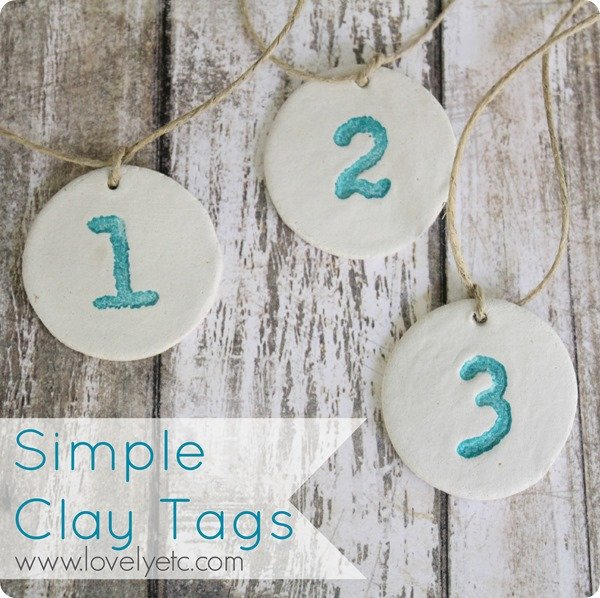 simple clay tags