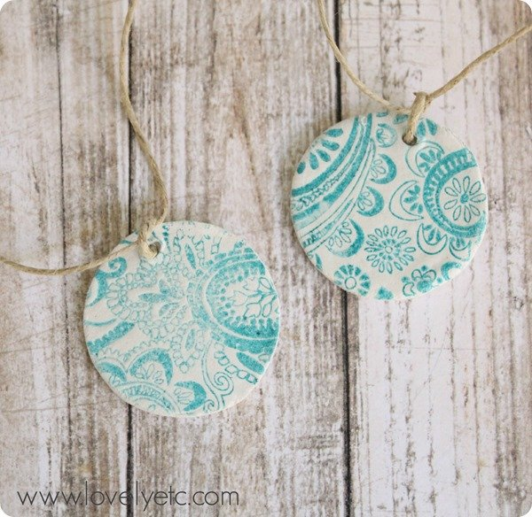 stamped clay tags