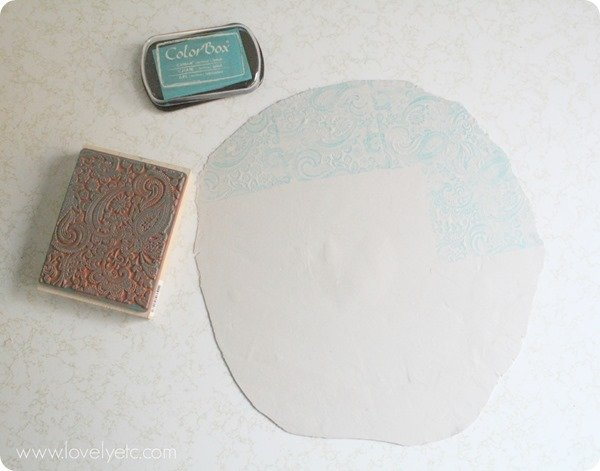 stamped clay