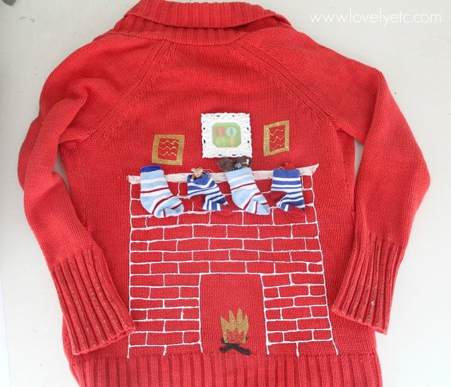 ugly christmas sweater - Red Ugly Christmas Sweater