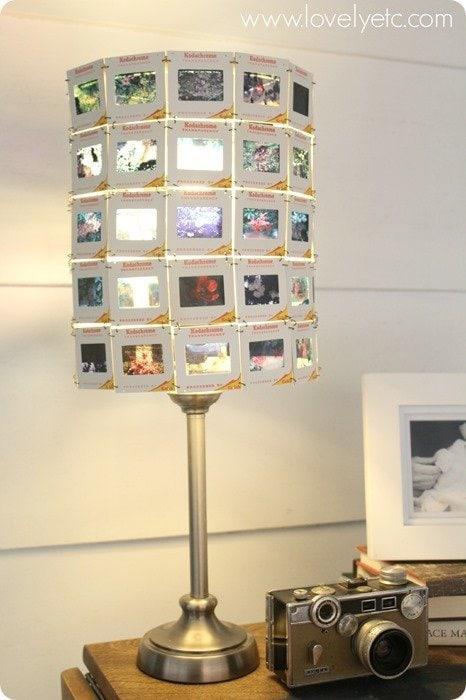 vintage slide lampshade 4