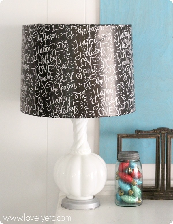 wrapping paper lampshade