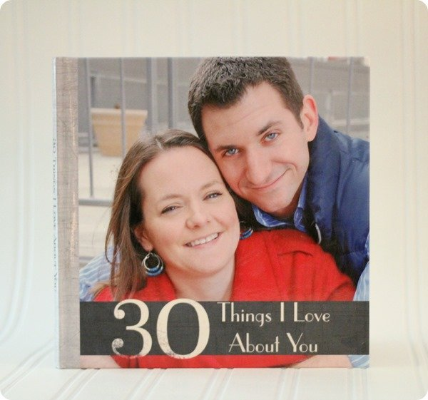 30 things i love about you photo book