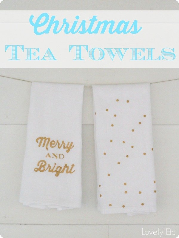Christmas tea towels 2