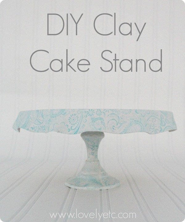 DIY clay cake stand 5