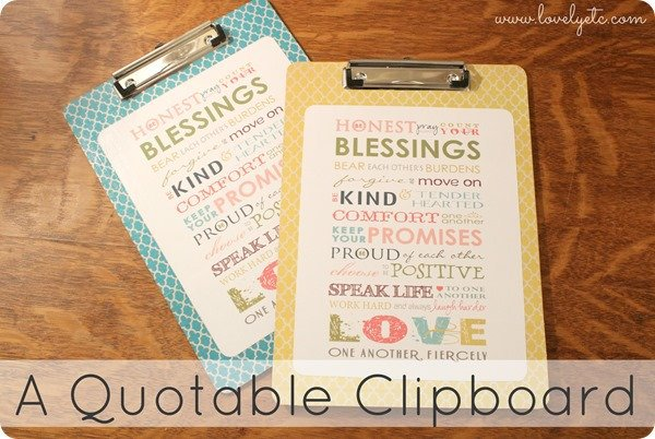 a quotable clipboard