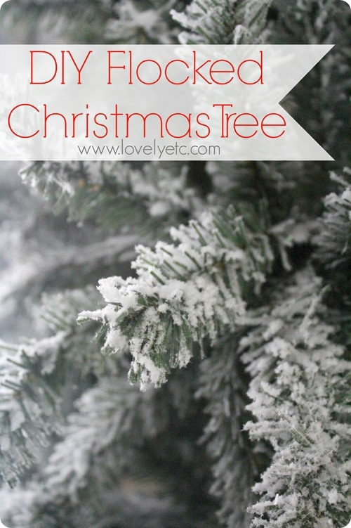 You can turn any Christmas tree into a gorgeous snowy flocked Christmas tree. Easy to follow instructions on how to flock a Christmas tree.