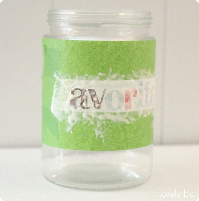using etching creme on a glass jar