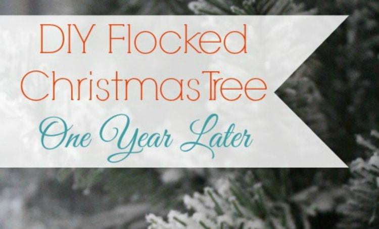 Diy flocked christmas tree lovely etc flocked tree update save easy diy flocked wreath solutioingenieria Gallery