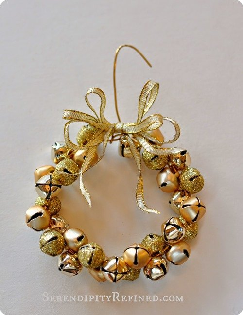 gold jingle bell ornament