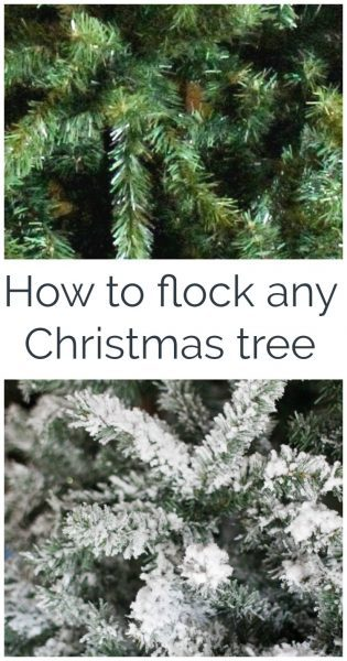 Diy flocked christmas tree lovely etc you can turn any christmas tree into a gorgeous snowy flocked christmas tree instructions on solutioingenieria