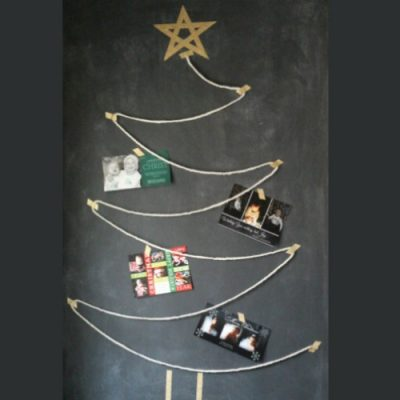 Quick and Easy Christmas Card Display