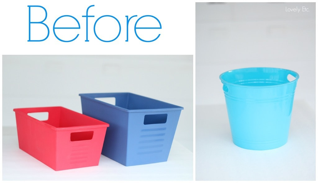 dollar store storage before - Metal Storage Containers
