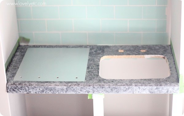 Painting the stainless steel stovetop