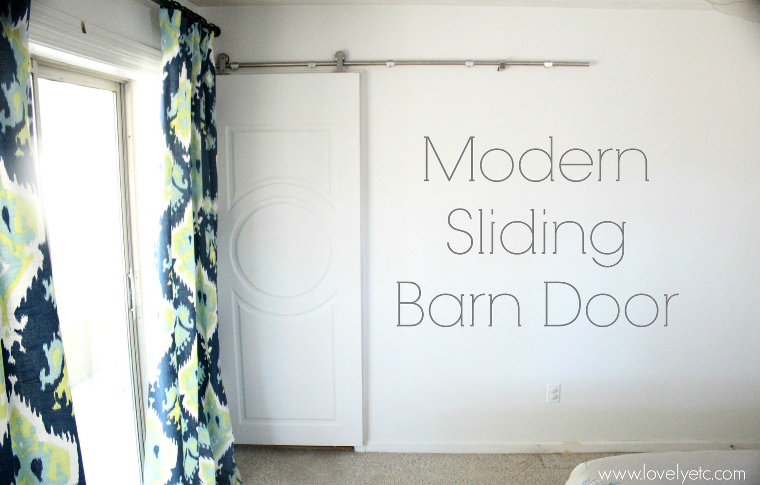 Our modern sliding barn door
