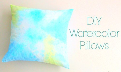 DIY Abstract Watercolor Pillows