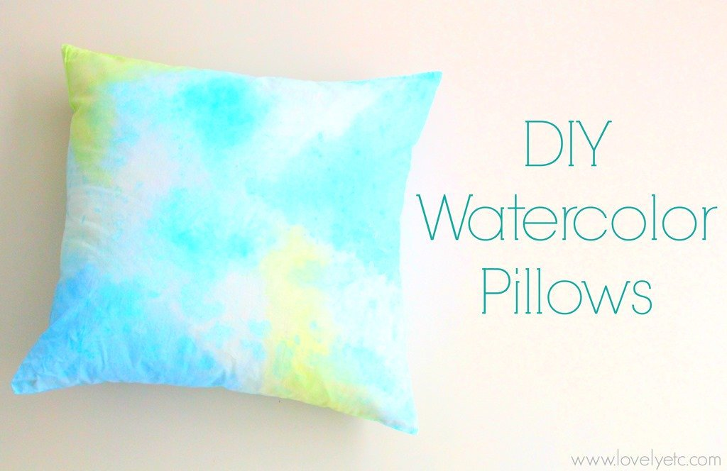 DIY Watercolor PillowsDomestically Speaking