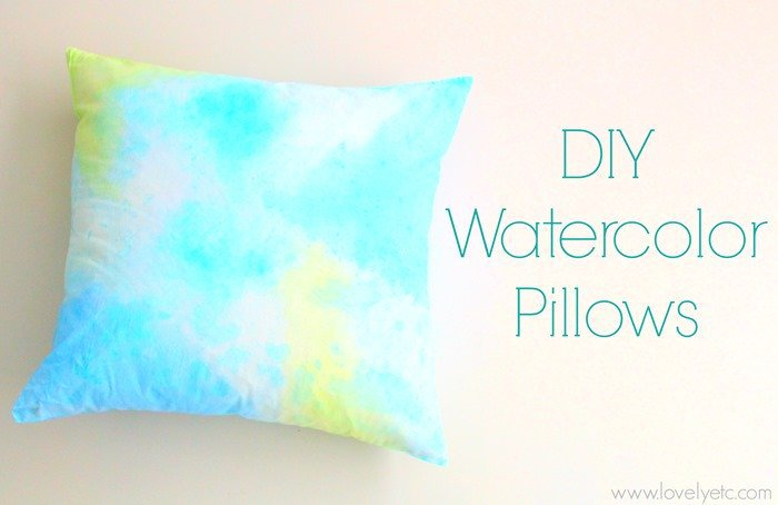 DIY painted watercolor pillows