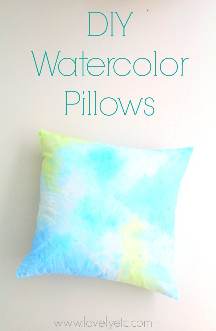 DIY Watercolor Pillows perfect for your Spring and Summer decor