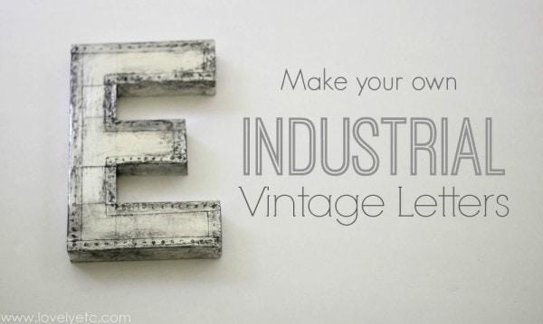 industrial vintage letters