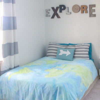 How to paint a duvet cover with any design