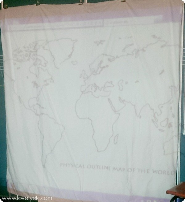 projecting the map