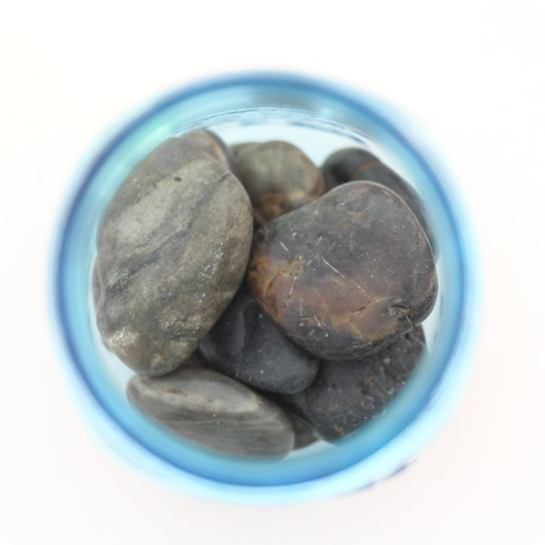 rocks in jar