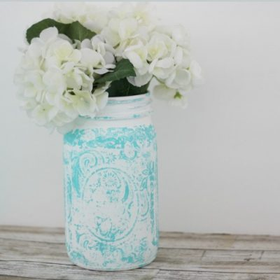 Stamped Mason Jar and Spring Mason Jar Inspiration