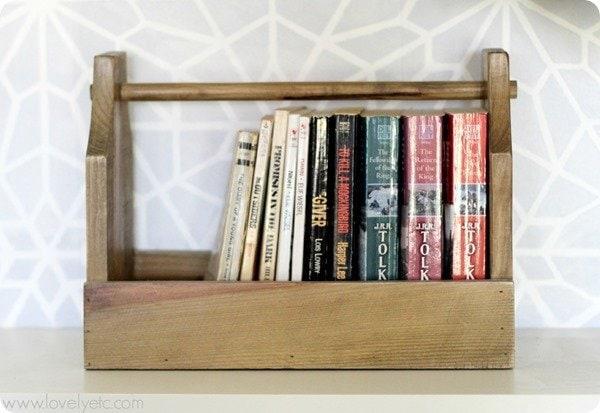 vintage toolbox bookshelf