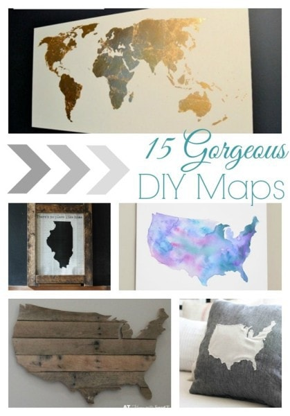gorgeous diy maps