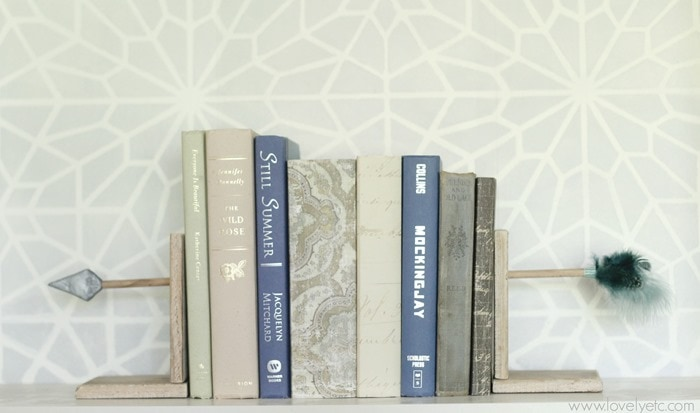 DIY arrow bookends 2