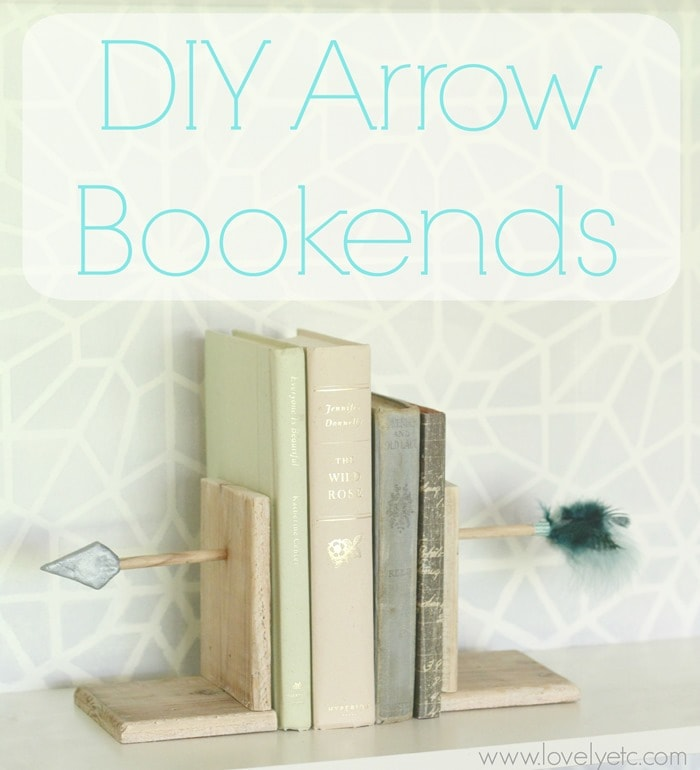 DIY arrow bookends