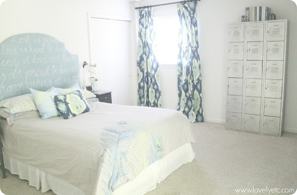 Inexpensive DIY master bedroom makeover