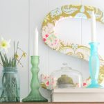 Fresh, Simple and Free Spring Mantel