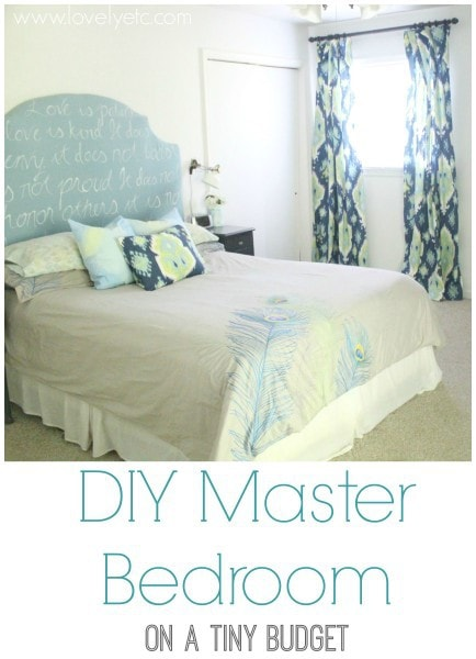 diy master bedroom on a tiny budget wm