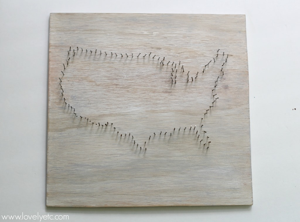 Usa map string art domestically speaking nail outline for string art prinsesfo Images