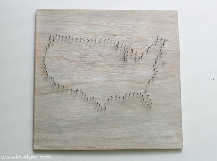 nail outline for string art