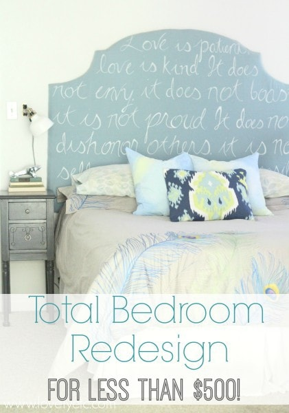 total bedroom redesign for less than $500