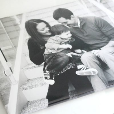 DIY Wrapped Photo Canvas with Real Canvas Texture