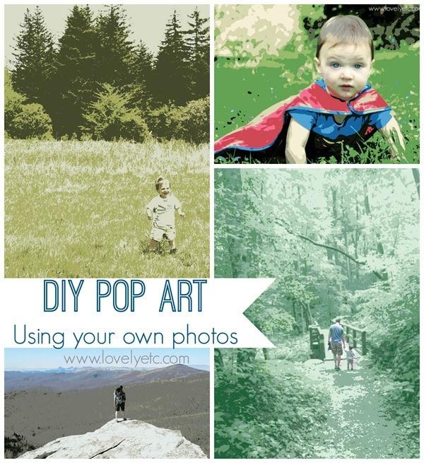 diy pop art using your own photos