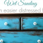 The easiest way to heavily distress furniture
