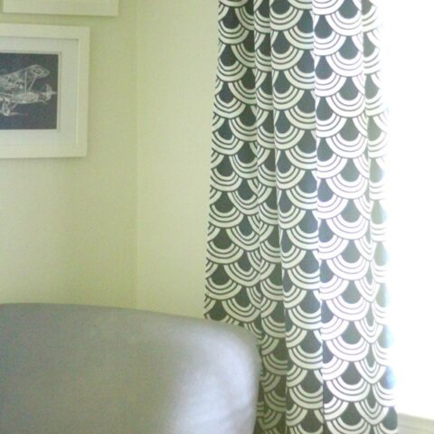 diy curtains shown in living room